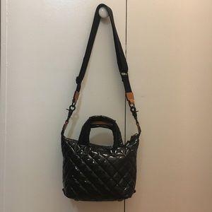 MZ Wallace Black Lacquer Micro Sutton Mini Bag